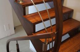 Balustrady drewniano-chromoniklowe Boguchwała