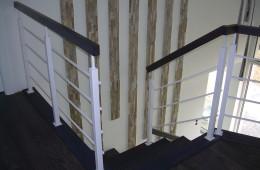 Rzeszów balustrady drewniano-chromoniklowe