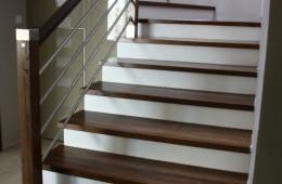 Schody drewno beton