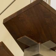 Schody na konstrukcji ze stali nierdzewnej o strukturze satyny Rzeszów