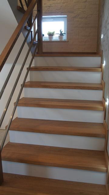 balustrada drewniano-chromoniklowa
